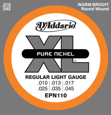 D'Addario EPN110 Pure Nickel Regular Light, Full Set