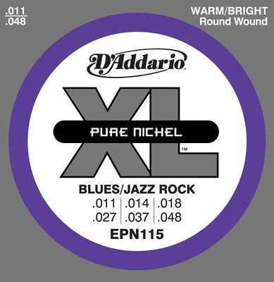 D'Addario Pure Nickel Round Wound EPN115, Full Set