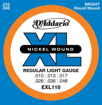 D'Addario EXL110 XL Nickel Electric Guitar Strings 10-46