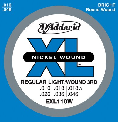 D'Addario XL Nickel Round Wound EXL110W , Full Set