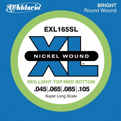 D'Addario Nickel Wound EXL165SL Reg Light Top/Med Bottom (45-105)