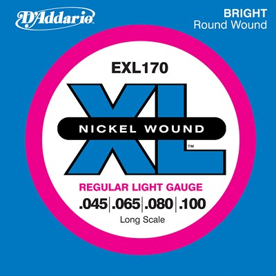 D'Addario Nickel Wound EXL170 Regular Light (45-100), Full Set