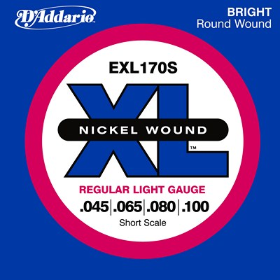 D'Addario Nickel Wound EXL170S Electric Bass (45-100), Full Set