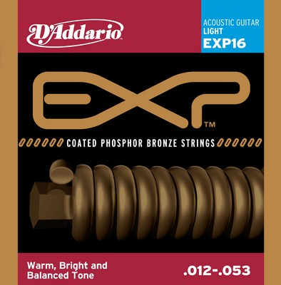 D'Addario EXP16 Light EXP Coated Phosphor Bronze, Full Set