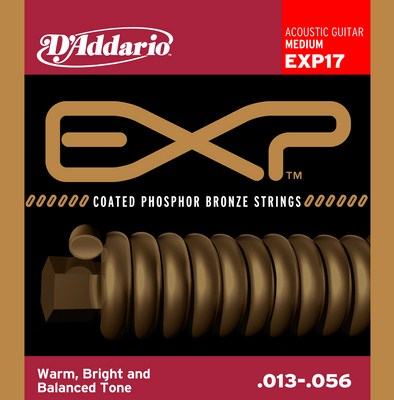 D'Addario EXP17 Medium EXP Coated Phosphor Bronze, Full Set