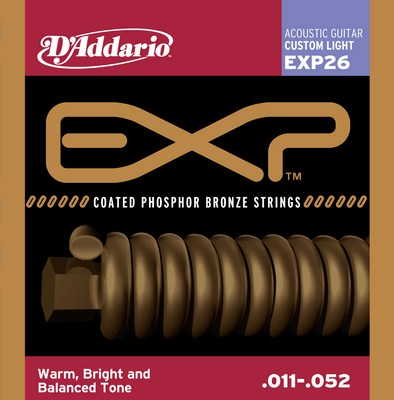 D'Addario EXP26 Custom-Light EXP Coated Phosphor Bronze, Full Set