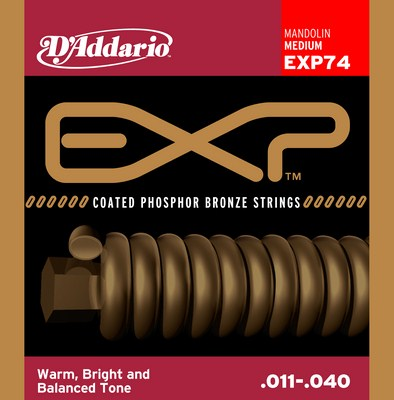 D'Addario EXP74 Mandolin Phosphor Bronze (8 strings), Full Set
