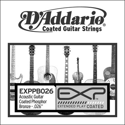 D'Addario EXPPB026 .026 inches (.66 mm), Single String