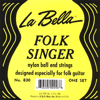 La Bella 830 Folk Singer Ball-End, Full Set