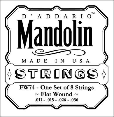 D'Addario FW74 Flat Wound Mandolin Strings