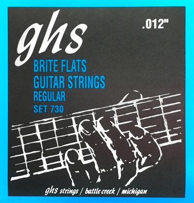 ghs brite flats 730 electric guitar strings regular gauge 12 54. Black Bedroom Furniture Sets. Home Design Ideas