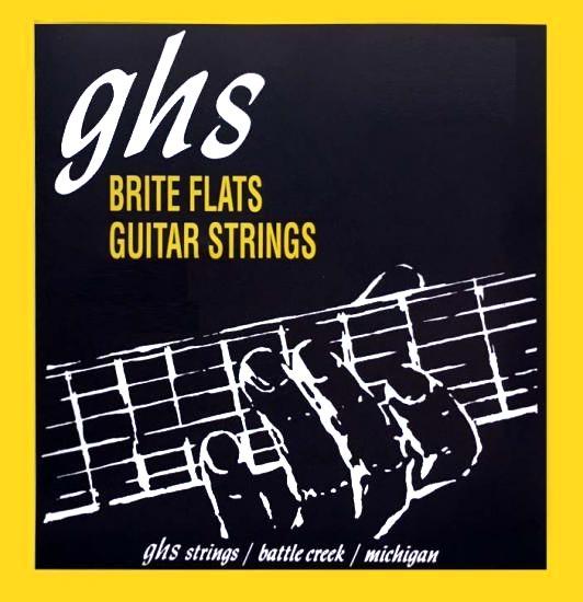 ghs brite flats 710 electric guitar strings light gauge 10 46. Black Bedroom Furniture Sets. Home Design Ideas