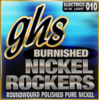 GHS Pure Nickel Round Wound BNR-L Electric Guitar Light Gauge 10-46