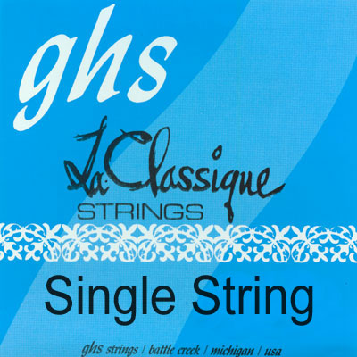 GHS La Classique 9401 - 1st string (e) .029 Nylon Supreme, Single