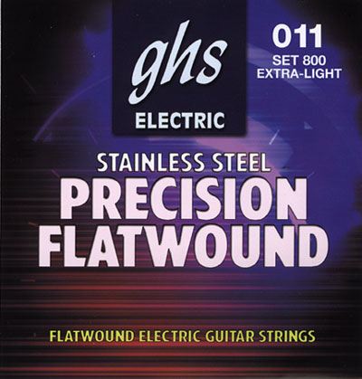 GHS Precision Flatwound Stainless Extra Light (11-46) Set 800