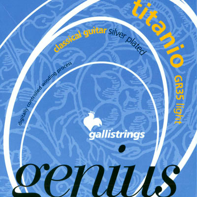 Galli Genius Titanio GR35 Light Tension, Full Set