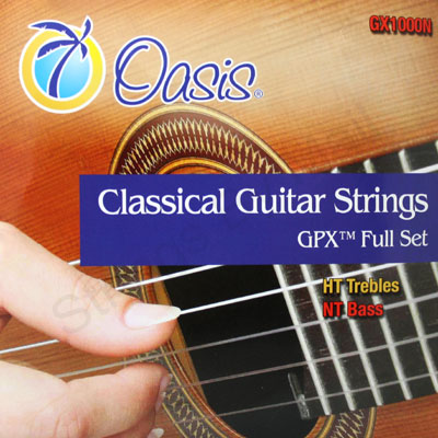oasis gpx carbon ht nt classical guitar strings gx1000n full set. Black Bedroom Furniture Sets. Home Design Ideas
