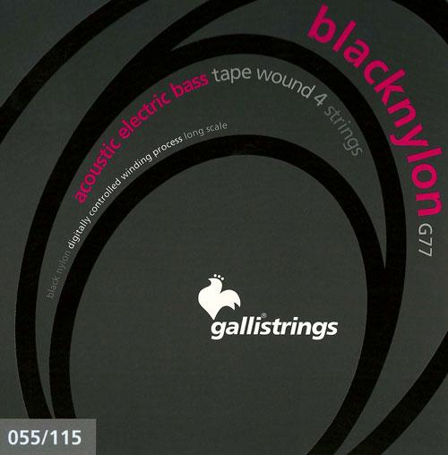 galli g77 4 black nylon tapewound electric bass strings 55 115. Black Bedroom Furniture Sets. Home Design Ideas