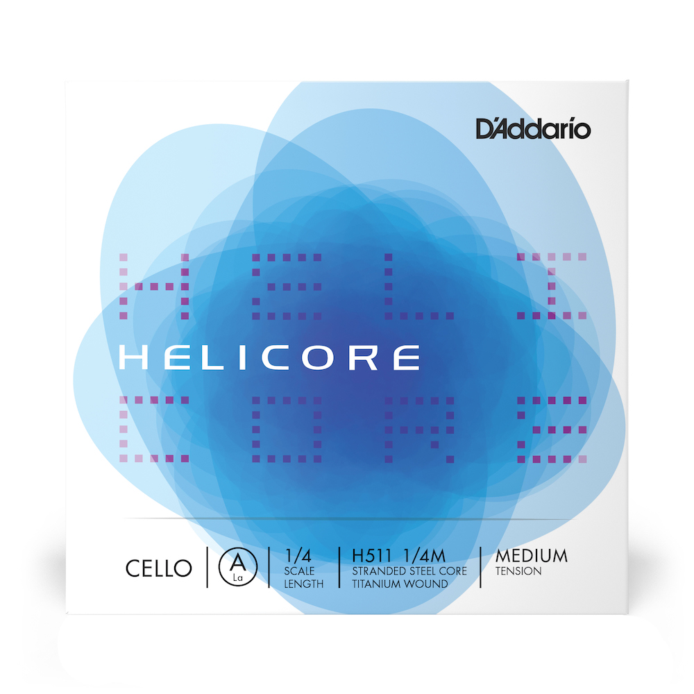 Helicore Cello A Single String 1/4 Scale Medium Tension H511 1/4M