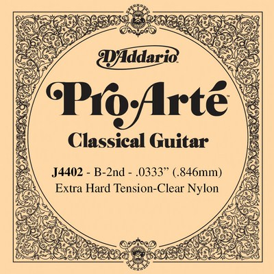 D'Addario Pro Arte J4402 - 2nd string (b) extra hard tension .0333