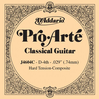 D'Addario Composite J4604C - 4th string (D), hard tension .029