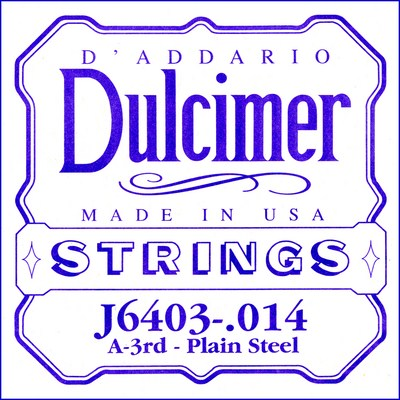 D'Addario J64 Dulcimer nickel loop end 4 strings, Full Set