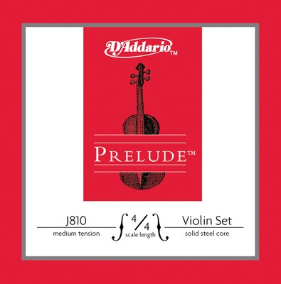 D'Addario Prelude Violin J810 4/4 Medium Tension, Full Set