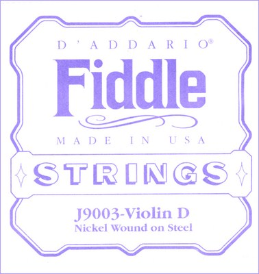 D'Addario Fiddle J90 Nickel Flat Wound on Steel, Full Set