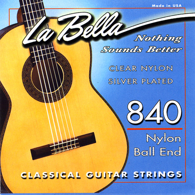 La Bella 840 Folk Singer Ball-End, Full Set