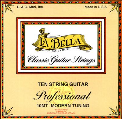 la bella 10mt ten string modern tuning guitar strings full set. Black Bedroom Furniture Sets. Home Design Ideas