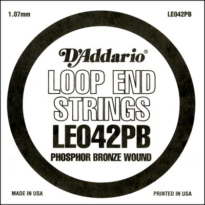 D'Addario LE042PB Phosphor Bronze Loop End .042 in, Single String