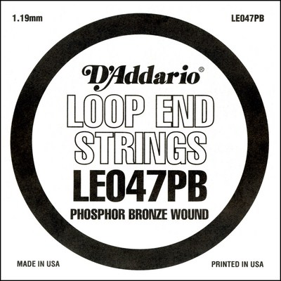 D'Addario LE047PB Phosphor Bronze Loop End .047 in, Single String