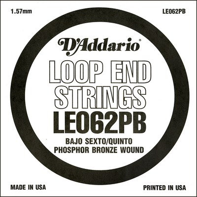 D'Addario LE062PB Phosphor Bronze Loop End .062 in, Single String