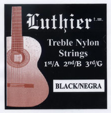 "Luthier Black Nylon ""Negra"" Treble Set"