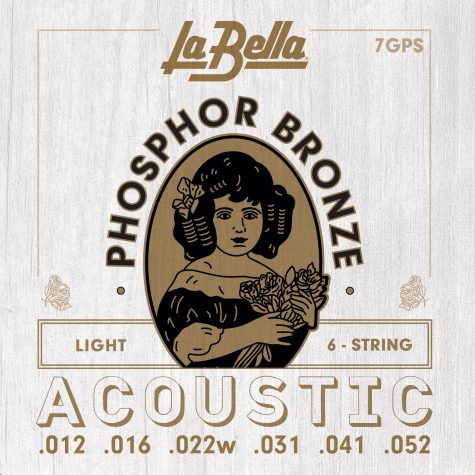 la bella 7gps phosphor bronze acoustic guitar strings lt 12 52. Black Bedroom Furniture Sets. Home Design Ideas