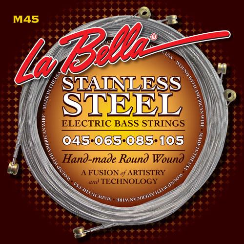 la bella m45 stainless rounds standard light bass strings 45 105. Black Bedroom Furniture Sets. Home Design Ideas
