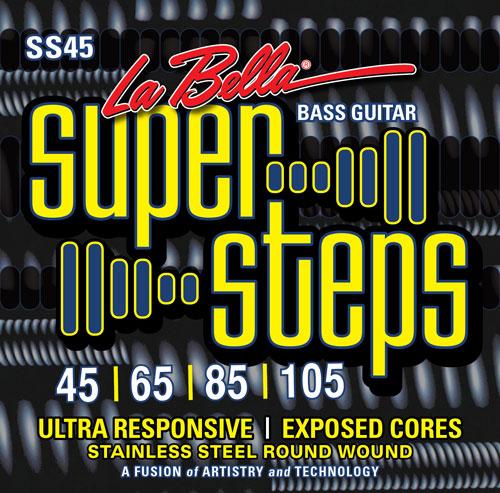 la bella ss45 super steps standard bass strings 45 105. Black Bedroom Furniture Sets. Home Design Ideas