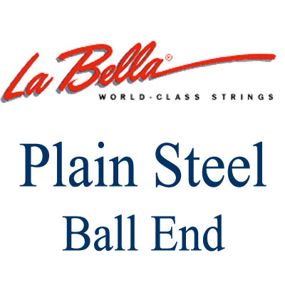 La Bella Plain Steel Ball End .012 in, Single String