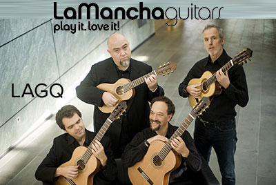 LaMancha Guitars - Playing with Los Angeles Guitar Quartet | StringsByMail.com