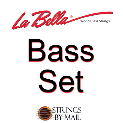 La Bella Argento AH Pure Silver basses Hard Tension, Bass Set