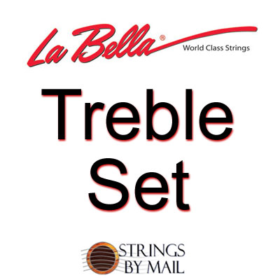 La Bella 820 Elite Flamenco with Red Trebles Medium Tension Treble Set