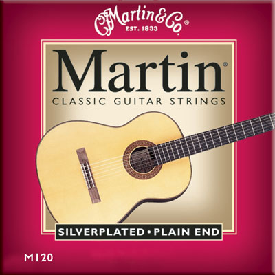 Martin M120 Silverplated Plain-End High Tension, Full Set