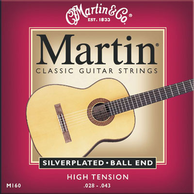 Martin M160 Silverplated Ball-End High Tension, Full Set