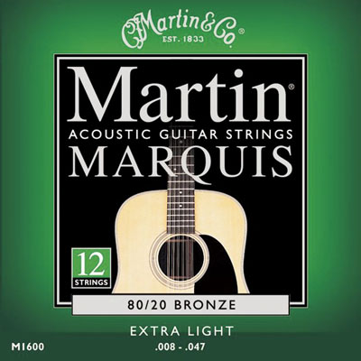 Martin M1600 Marquis 80/20 Bronze 12 String Extra Light, Full Set