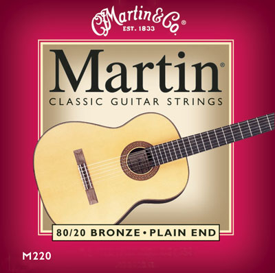 Martin M220 Bronze Wound Plain-End Regular Tension, Full Set