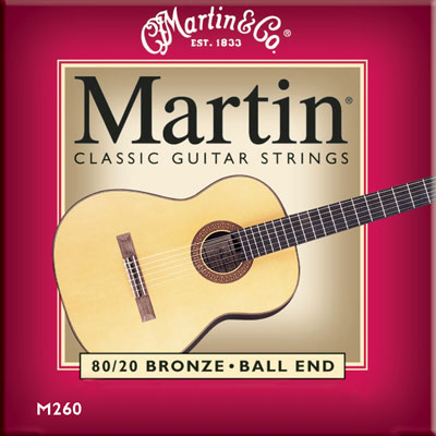Martin M260 Bronze Wound Ball-End Regular Tension, Full Set