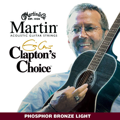 Martin MEC12 Clapton's Choice Phosphor Bronze Light, Full Set