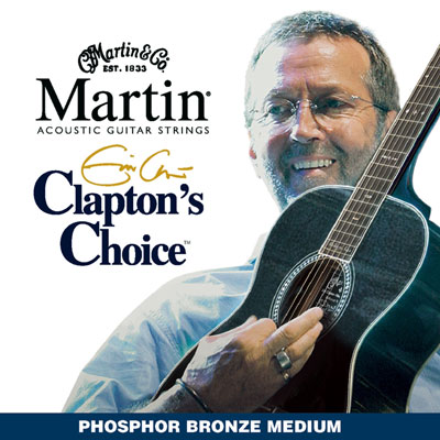 Martin MEC13 Clapton's Choice Phosphor Bronze Medium, Full Set