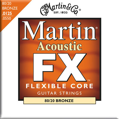 Martin MFX645 Flexible Core 80/20 Bronze FX Light Medium, Full Set