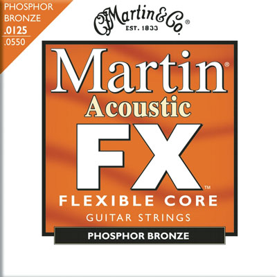 Martin MFX745 Flexible Core Phosphor Bronze Light Medium, Full Set